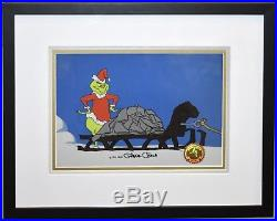 Orig. Signed Chuck Jones How the Grinch Stole Christmas Production Cel