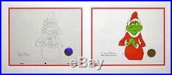 Orig. Signed Chuck Jones How the Grinch Stole Christmas Production Cel & Drawing