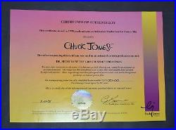 Orig. Signed Chuck Jones How the Grinch Stole Christmas Production Cel ft. Max