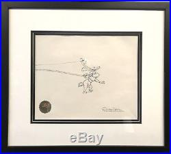 Orig. Signed Chuck Jones How the Grinch Stole Christmas Production Drawing Max