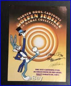 Original Rare Warner Bros. Friz Freleng Chuck Jones Mel Blanc Signed Looney Tune