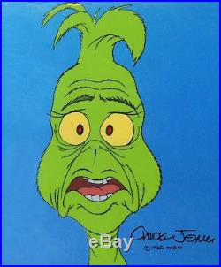 Original Signed Chuck Jones How the Grinch Stole Christmas Production Cel Grinch