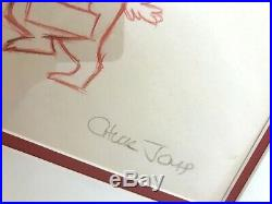 Original Vintage Chuck Jones Sam Sheepdog SIGNED Drawing