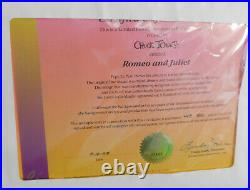 PEPE LE PEW Chuck Jones Romeo & Juliet Looney Tunes Signed Cel Art 1992