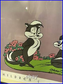 Pepe Le Pew Collectible Chuck Jones Hand Signed Numbered Print 1992 106/1000
