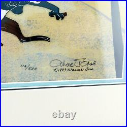 Pepe Le Pew & Kitty SHE IS SHY CHUCK JONES Limited Edition Signed Cel Art