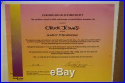 Porky Pig, Daffy Duck, Sylvester-Scarlet Pumpernickle LE Cel-Signed Chuck Jones