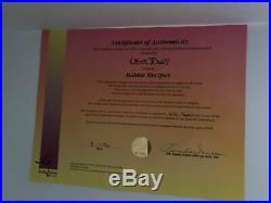 RABBIT RECIPES Hand Signed Chuck Jones & June Foray Ltd Ed cel Looney Tunes