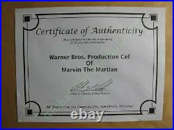 RARE Marvin the Martian Chuck Jones Animation Production Cel Earth Sign COA NR