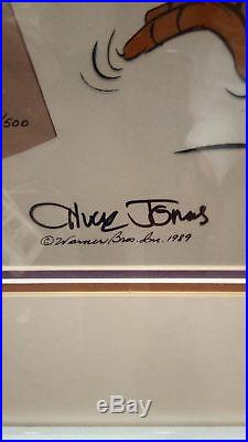 ROAD RUNNER CLASSIC Hand Signed Chuck Jones Ltd. Ed. Cel Warner Looney Tunes