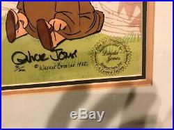 ROBIN HOOD Hand Signed Chuck Jones Ltd. Ed. Cel Daffy & Porky Looney Tunes