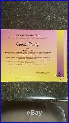 Rare Chuck Jones Artist Proof Warner Brothers signed and framed animation cel