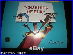 Rare Wb Signed Chuck Jones Cel 368/500 Chariots Of Fur Road Runner Coyote