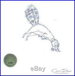 Rikki Tikki Tavi Chuck Jones SIGNED 1975 Original Production Cel Drawing Seal