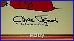 Road Runner Cel Warner Bros Rare Chuck Jones Signed Wile E Coyote Road Scholar