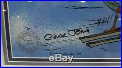 Road Runner Cel Warner Bros Rare Chuck Jones Signed Wile E Coyote Skiing 109/750