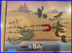 Road Runner Coyote Hand Painted Limited Edition Cel signed Chuck Jones