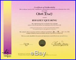 Roughly Squeaking Hand Painted Cel Limited Edition 30/46 signed by Chuck Jones