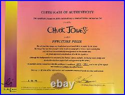 SALE PEWLITZER PRIZE Ltd Ed Animation Cel by CHUCK JONES hand painted/signed
