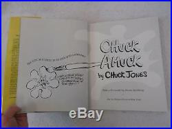 SIGNED CHUCK JONES CHUCK AMUCK The Life and Times of an Animated Cartoonist 1990