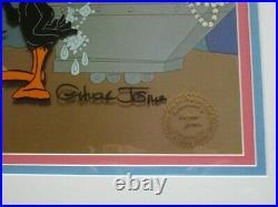 SIGNED CHUCK JONES Daffy Duck Aladdin Warner Brothers Limited Edition Cel FRAMED