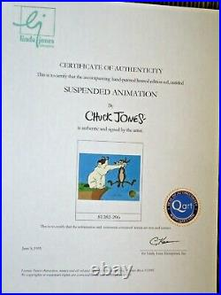 SIGNED CHUCK JONES Ralph and Sam Warner Brothers animation Cel Cell