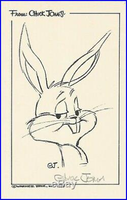 SIGNED Chuck Jones Bugs Bunny with COA