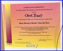 SOUP OR SONIC 1980 Original Production Cel Signed Chuck Jones'WILE E. COYOTE