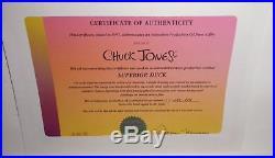 SUPERIOR DUCK 1996 Original Production Cel Signed Chuck Jones / DAFFY DUCK