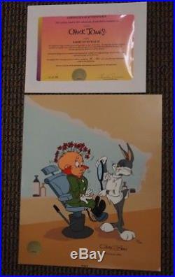 S/O Rabbit of Seville III Cel Chuck Jones Hand-Signed Bugs Elmer Fudd UF Ltd Ed