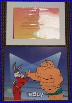 S/O THE CRUSHER Cel Hand-Signed Chuck Jones Ltd Ed Cel Bugs Bunny UF
