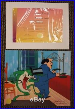 S/O Wild About Harry Cel Hand-Signed Chuck Jones Michigan J Frog UF Ltd Ed