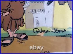 Shake Hands with Friar Duck Hand Signed Chuck Jones Ltd Ed cel Looney Tunes