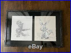 Signed And Numbered Chuck Jones Double Animation Giclee Bugs Bunny & Elmer Fudd