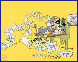 Signed CHUCK JONES LIMITED EDITION Warners Bugs Bunny Chuck Amuck 1989 #347/750