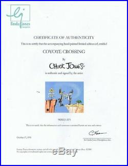 Signed CHUCK JONES LIMITED EDITION Warners Bugs Bunny Wile E Coyote 1990's