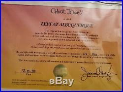 Signed Chuck Jones Animation Cel Bugs Bunny Left At Albuquerque #114/250 1999