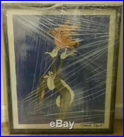 Signed Chuck Jones Bugs Bunny Animation Limited Edition Gallery Lithograph 1984