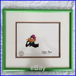 Signed Chuck Jones Original Hand Painted Production Cel Daffy Duck 1979
