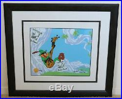 Signed by Chuck Jones DAFFY DUCK Limited Edition Animation Cel Framed with COA