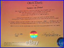 Sold Out Chuck Jones Santa on Trial Sericel Hand painted cel Signed Daffy Porky