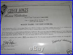 TRUANT OFFICER BUGS BUNNY AND WITCH HAZEL FRAMED SIGNED chuck jones WB cel