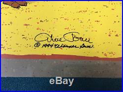 TWO Chuck Jones Hand Signed Animation Cel WILE E COYOTE & ROADRUNNER COA