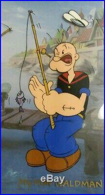 Tales Of The Sea & Big One Limitd Edition Popeye SweetPea Cel SIGNED #'d COA LOT