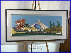 The Fanatic Wile E. Coyote & Road Runner Chuck Jones Signed Handpainted Cel