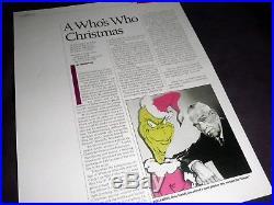 The Grinch RARE signed photo Chuck Jones Ravenscroft Hague composer TV rare
