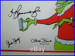 The Grinch Who Stole Christmas Production Cel Art Chuck Jones Foray Thurl Signed