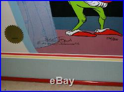 The Grinch Who Stole Christmas Production Cel Art Chuck Jones Signed withCOA