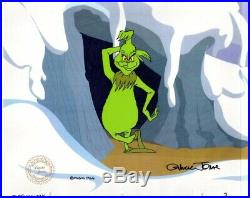 The Grinch Who Stole Christmas Production Cel Art Chuck Jones signed