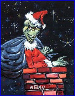 The Grinch You're A Mean One Giclee Signed By Chuck Jones Rare Ltd. Ed
